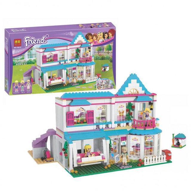 "Конструктор Bela Friends 10612 ""Дом Стефани"", (аналог LEGO Friends 41314),  649 деталей"