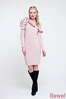 Модное зимнее вязаное платье