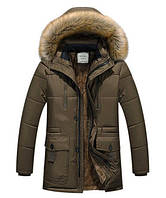 Зимняя куртка мужская хаки