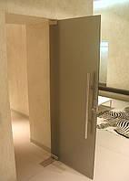 Стеклянные распошные двери