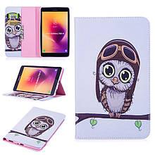 Чехол книжка с рисунком Printing для Samsung Galaxy Tab A 8.0 T385 T380 Adorable Owl