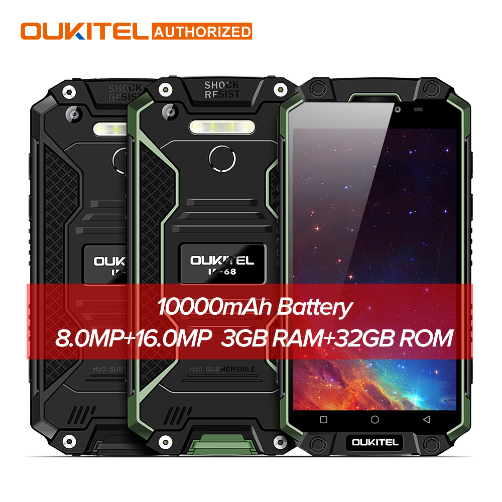 "Смартфон Oukitel k10000 Max 3/32Gb, 16/8Мп, 8 ядер, 2sim, экран 5,5"" IPS, 10000mAh, IP68, 4G, Android 7.1"