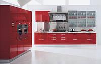 Красные кухни из мдф крашеный модерн современные Киев, фото 1