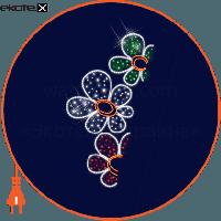 Люмьер Световая конструкция кронштейн на опору, размер 2,5*1,05