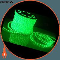 Люмьер Дюралайт супер гибкий, гладкая поверхность, ультра-яркие светодиоды, без аксессуаров, зеленый, 24В
