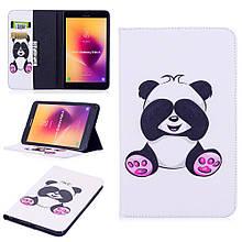 Чехол книжка с рисунком Printing для Samsung Galaxy Tab A 8.0 T385 T380 Adorable Panda