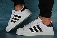 Мужские кроссовки Adidas SuperStar (белые), ТОП-реплика, фото 1