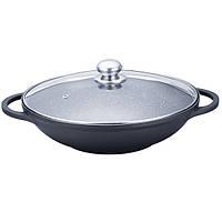 Сковорода ВОК Maestro Granit с крышкой 32 см (MR4832)