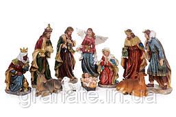 Рождественские фигуры Вертеп (набор из 11 фигур) 30 см