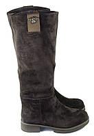 Замшевые зимние коричневые сапоги , фото 1
