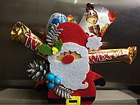 Новогодняя фетровая сумочка с конфетами