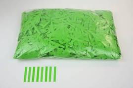 Конфетти тонкие полосочки зелёные, 50 грамм