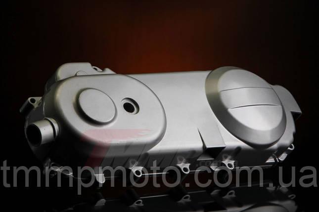 Крышка вариатора 4т YABEN-50/60/80см3 длинная серебро 43см, фото 2