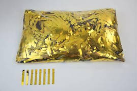 Конфетти тонкие полосочки золотые, 50 грамм
