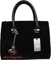Каркасная женская сумка с брелком