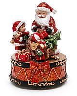 Новогодняя композиция Санта с музыкой новогодней, заводной