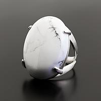 Кахолонг, серебро 925, кольцо, 783КК