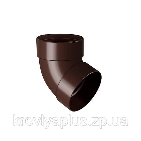 Колено трубы, отвод двомуфтовый 67° Ø100 (Rainway, Украина), коричневый. , фото 2