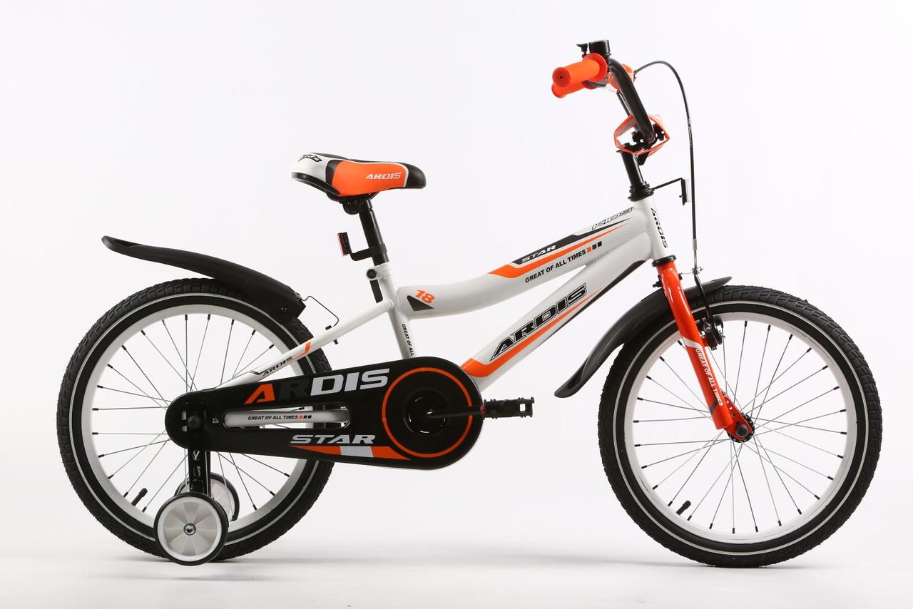 """Детский велосипед ARDIS STAR 18"""" Белый/Оранжевый"""