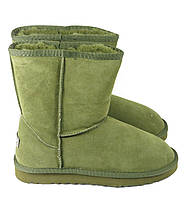 Зеленые женские угги замшевые Sopra, фото 1