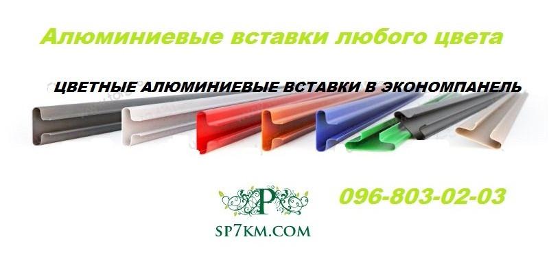 Вставка алюминиевая цветная в Экономпанель