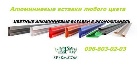 Вставка алюминиевая цветная в Экономпанель, фото 2