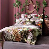 ТАС Digital евро комплект постельного белья сатин Exotic  Paradise gri, фото 1