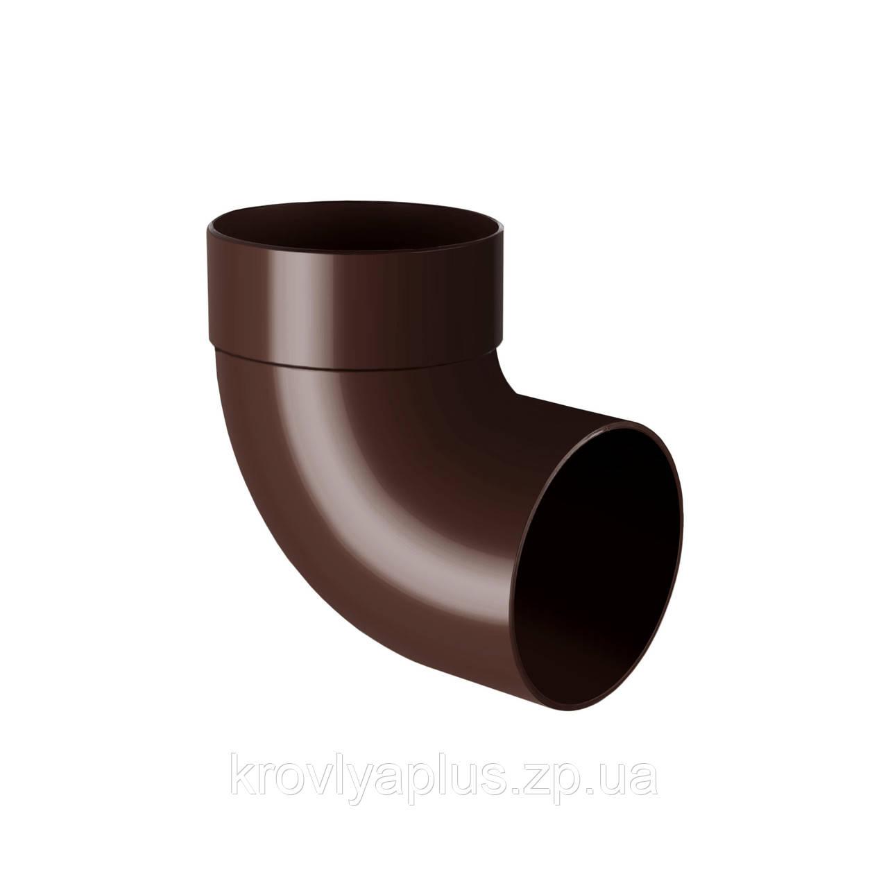 Колено трубы, отвод одномуфтовый 87° Ø100 (Rainway, Украина), коричневый.