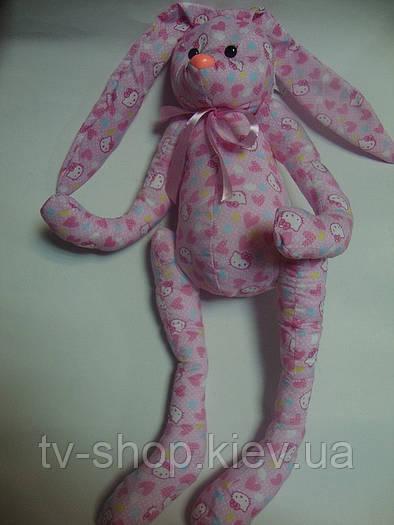 Эко-игрушка Зайка  Pink (ситец)
