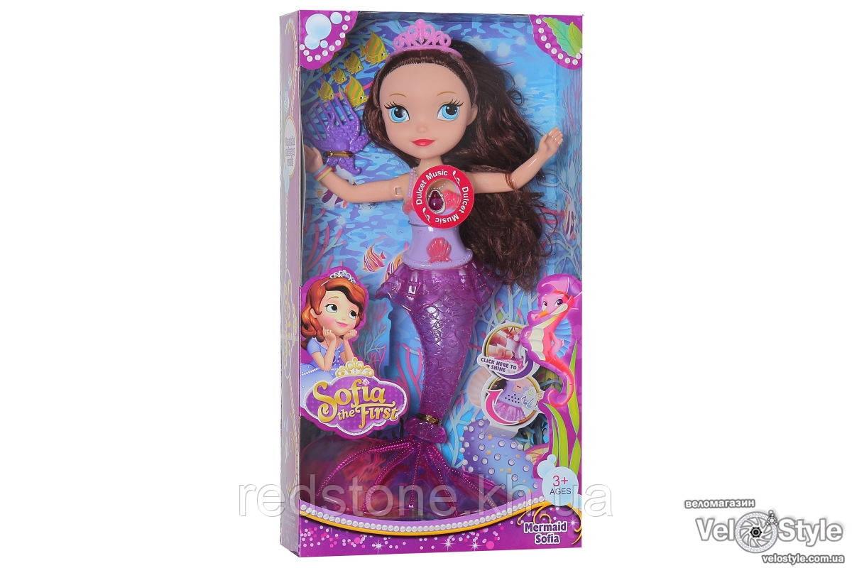 Кукла Sofia София-русалка 833 хвост светится разными цветами, куколка поёт
