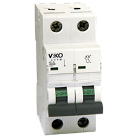 Автомат VIKO 2С (двухполюсный) 6А 4,5КА 230/400V Тип С