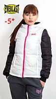 Женская белая куртка Everlast/еверласт/эверласт Оригинал