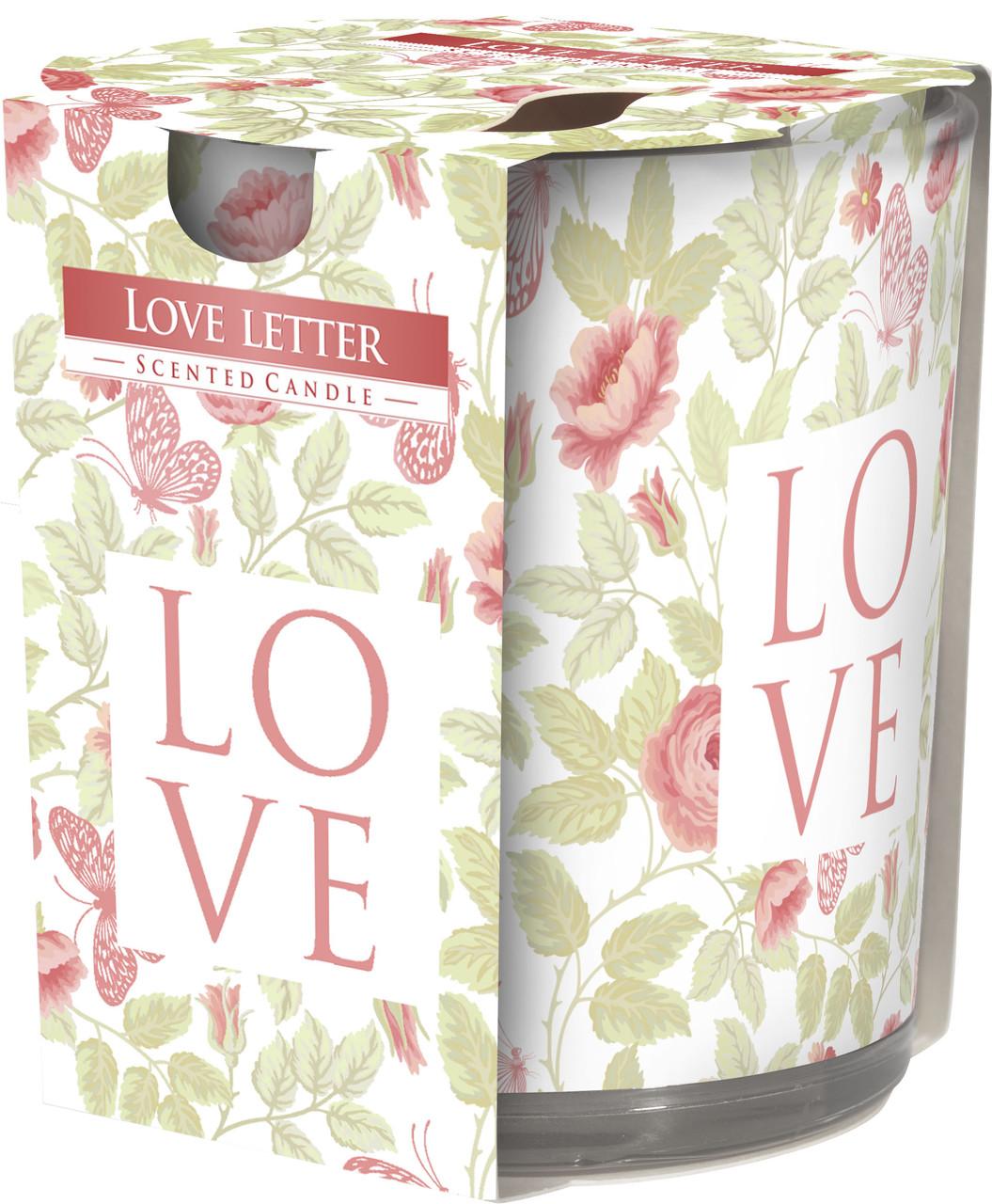 Ароматическая свеча BISPOL Любовное письмо
