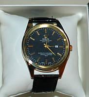 Мужские наручные часы Rolex ( Ролекс ) золото с чёрным циферблатом ( код: IBW073YB )