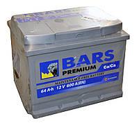 Автомобильный аккумулятор BARS Premium 64Ач 600А (0) R