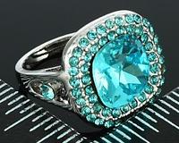 """Кольцо-перстень """"Голубая мечта"""""""