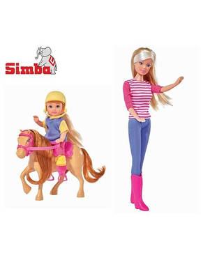 Кукла Steffi и Evi на коне Simba 57380512, фото 2