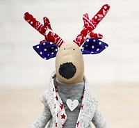 Как шить новогоднего оленя из ткани