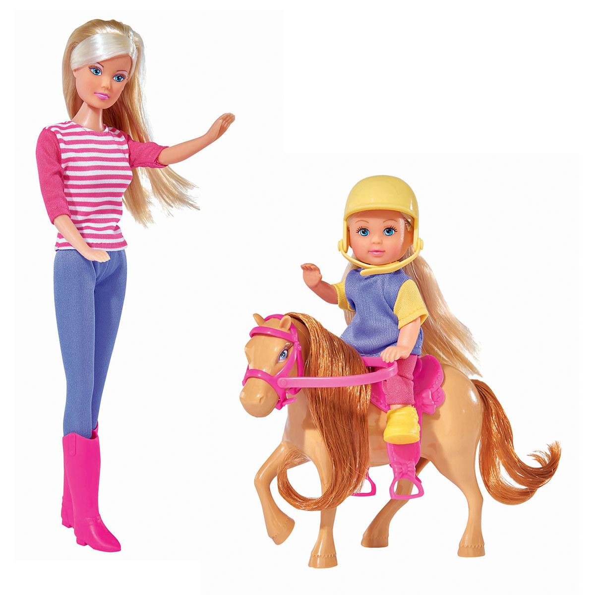 Кукла Steffi и Evi на коне Simba 57380512