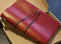 Блокнот в кожаном переплете, сменный блок в подарок