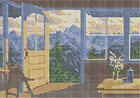 Схема для вышивки бисером «Вид из беседки»