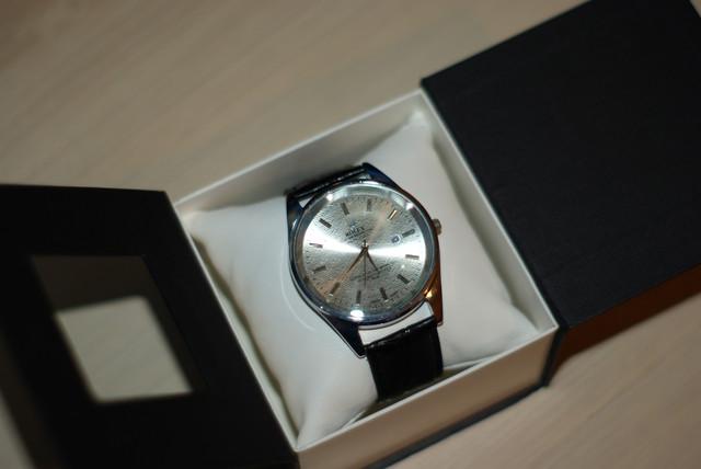 Мужские  часы Rolex хром корпус