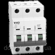 Автомат VIKO 3С (трехполюсный) 6А 4,5КА 230/400V Тип С