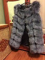 Женская меховая жилетка безрукавка В наличии