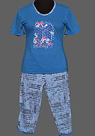 Домашний костюм пижама женская в клеточку хлопковая Украина