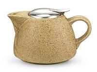 Заварочный чайник Fissman 1000мл с ситечком, цвет ПЕСОК (керамика)