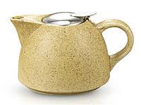 Заварочный чайник Fissman 650мл с ситечком, цвет ПЕСОК (керамика)