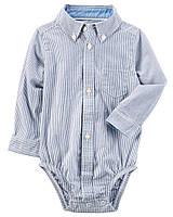 Нарядная боди рубашка в полоску Картерс для мальчика,12 М,18 М