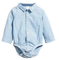Нарядная боди рубашка в полоску Картерс для мальчика, 74,86,92см