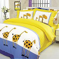 Постельное белье подростковый комплект Жирафы